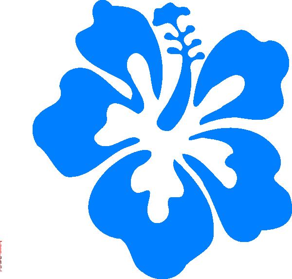 Blue Hibiscus Clip Art at Clker.com - vector clip art ...