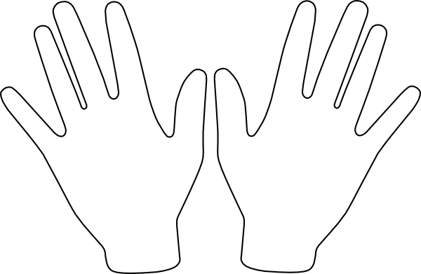 Two Hands Clip Art at Clker.com - vector clip art online ...