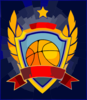 Basketball Emblem Clip Art