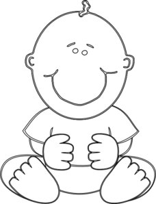 Baby Boy Outline Clip Art
