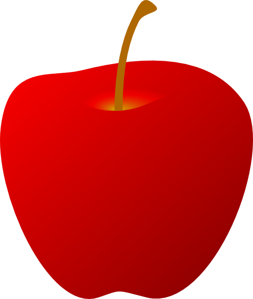 Red Apple Without Leaf Clip Art at Clker.com - vector clip ...