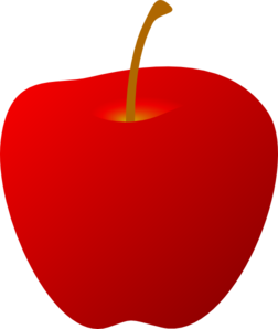 Red Apple Without Leaf Clip Art