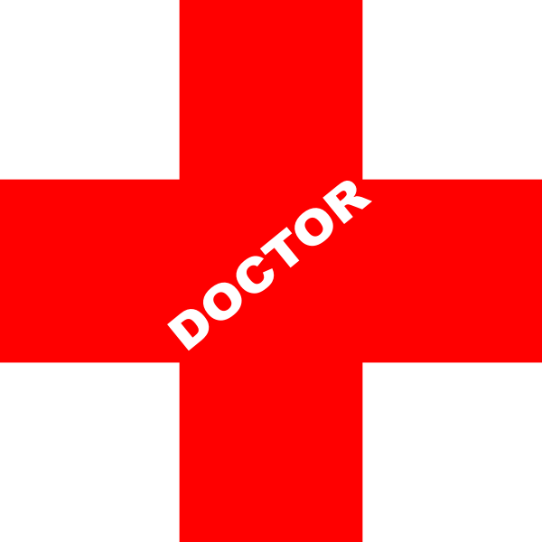 doctor logo red clip art at clkercom vector clip art