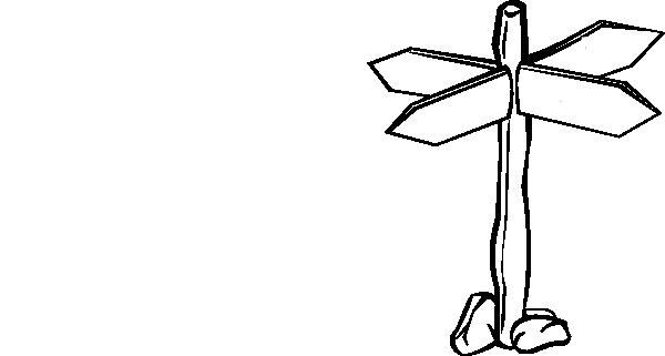 Crossroad Sign Blank Clip Art At Clker Com Vector Clip