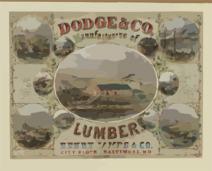 Dodge & Co. Manufacturers Of Lumber Clip Art