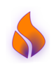 Spirit Flame Purple Orange Clip Art