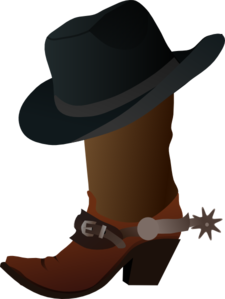 Boot And Hat Clip Art
