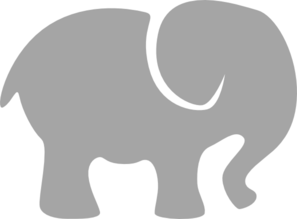 Grey Baby Elephant Clip Art at Clker.com - vector clip art ...
