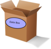 Brown Date Box Clip Art