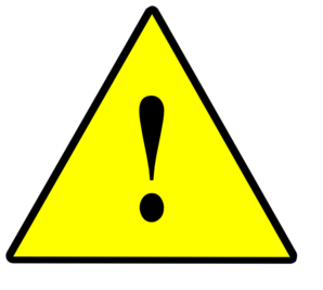 1 Significant Risk Solid Yellow Clip Art