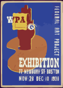 Wpa Federal Art Project Exhibition, 77 Newbury St., Boston, Nov. 28, Dec. 10, 1938  / N. Clip Art