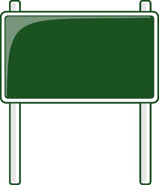 green road sign clip art at clkercom vector clip art