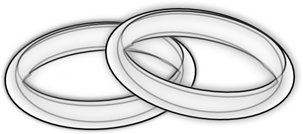 Wedding Rings Black And White