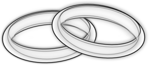 White Rings Lined Black Clip Art At Clker