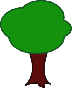 Green Tree, Brown Trunk Clip Art