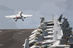 An F/a-18c Hornet Launches From One Of Four Steam-powered Catapults On The Flight Deck Aboard Uss Abraham Lincoln (cvn 72). Clip Art