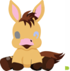 Baby Horse Cartoon Illustration Pony Very Cute Clip Art
