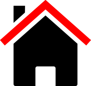 House Red Black Clip Art