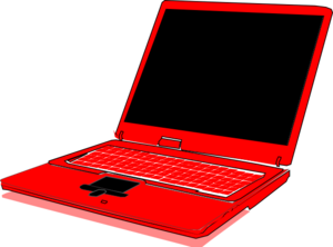 Red Computer Clip Art