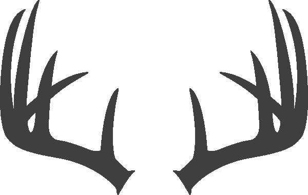 Antler Heart Clip Art Antlers dark grey clip art