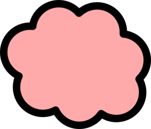 Peach Cloud Clip Art