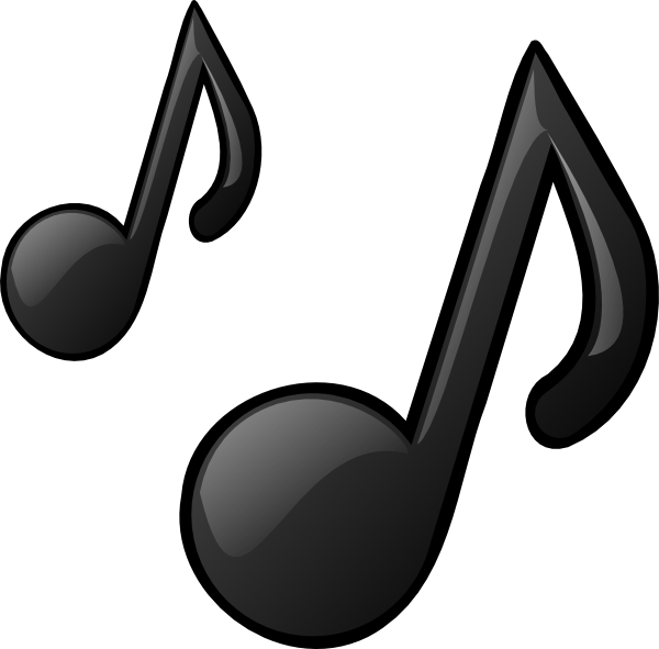 Music Notes clip art - vector clip art online, royalty free & public ...