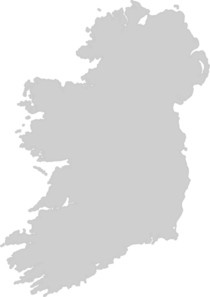 Grey Filled Map Of Ireland Clip Art