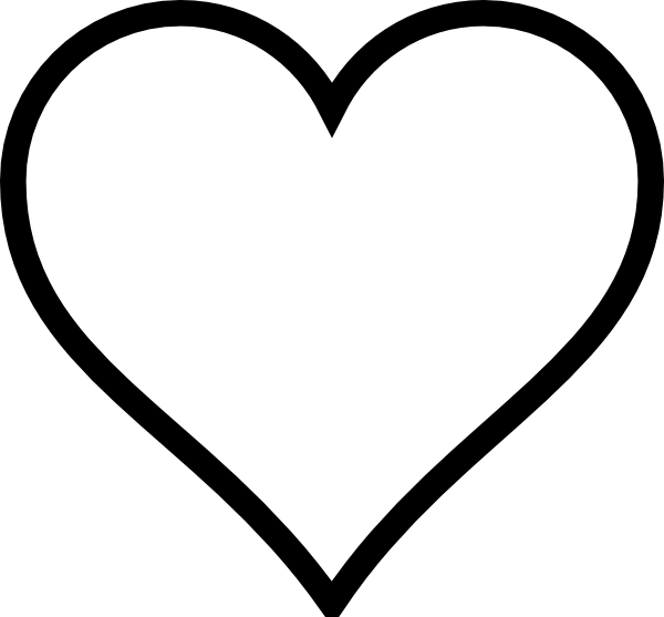 Line Art Love Heart : Think line heart outline clip art at clker vector