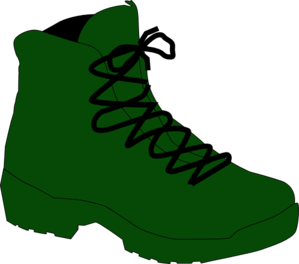 Boot On The Move Clip Art