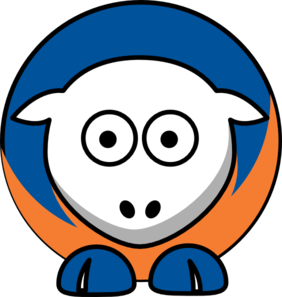 Sheep New York Islanders Team Colors Clip Art