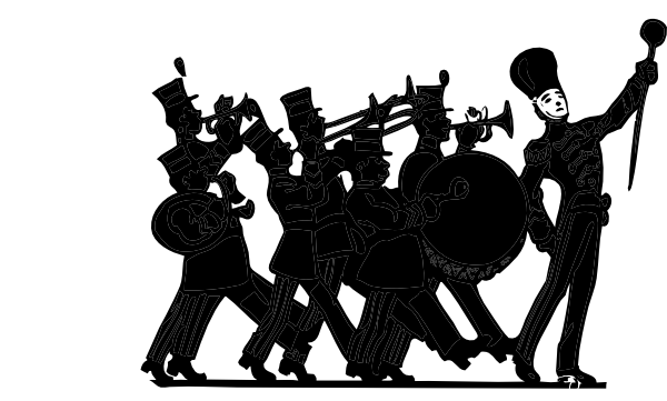 marching band black on white clip art at clker com vector clip art rh clker com