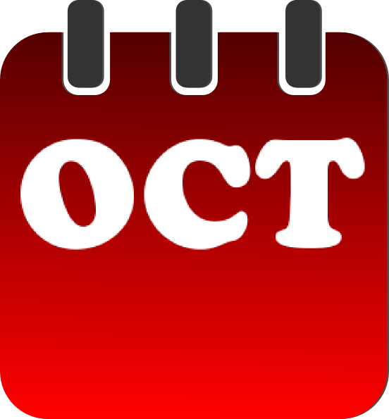 October Calendar Clipart : October calendar clip art at clker vector