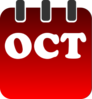 October Calendar Clip Art