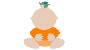 Baby Orange Cute Clip Art