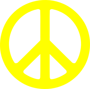 Yellow Peace Sign Clip Art