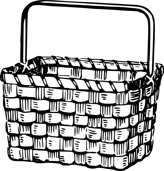 White Basket Clipart : Basket clip art at clker vector
