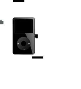 Ipod Black Old Clip Art