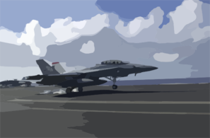An F/a-18f Super Hornet Attached To The  Black Aces  Of Strike Fighter Squadron Forty One (vfa-41) Clip Art