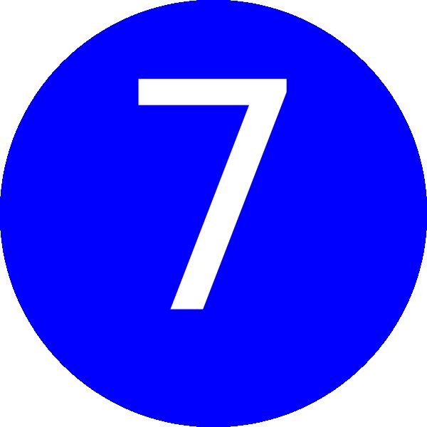 Number 7 Blue B...