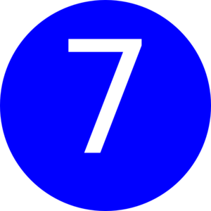 Number 7 Blue Background Clip Art at Clker.com - vector clip art