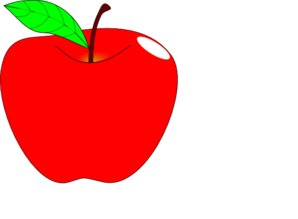 Red Apple Teacher Ai Clip Art at Clker.com - vector clip art ...