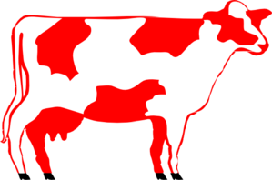 Milking Shorthorn Cow Clip Art