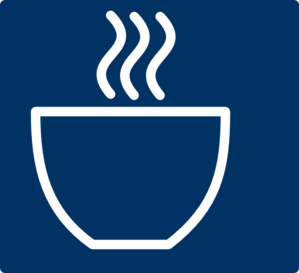 Cup - White On Navy Clip Art