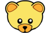 Yellow Cute Teddy Bear Face Clip Art