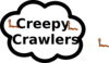 Creepy Crawlers Sign Clip Art