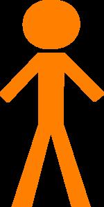 Stick Figure - Orange Clip Art at Clker.com - vector clip art online ...