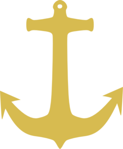 Gold Anchor Clip Art