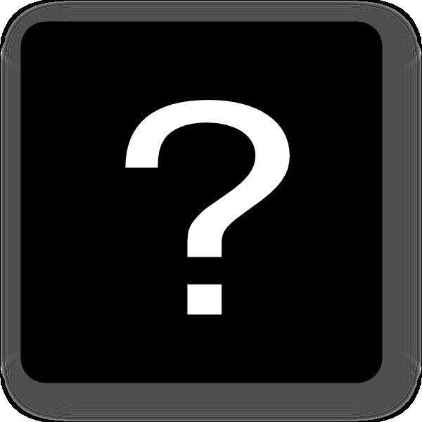 Black question mark square icon clip artQuestion Mark Clip Art Black And White Png