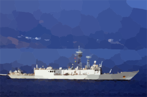 Uss Kauffman Arrives In Crete Clip Art