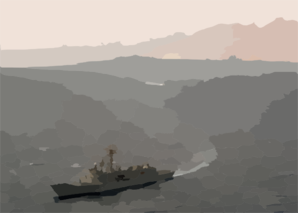 Uss Vandegrift (ffg 48) Steams In The Gulf Of Aqaba Clip Art